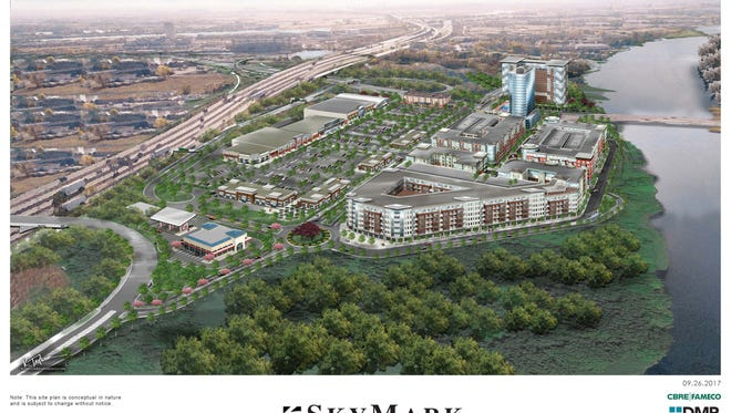A rendering of the Skymark project planned for Ridgefield Park.
