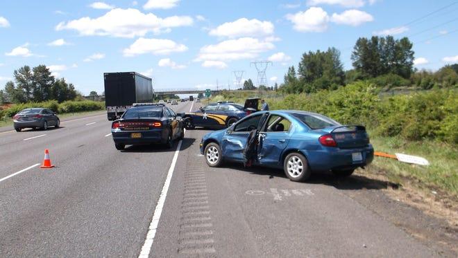 Crash on I-5