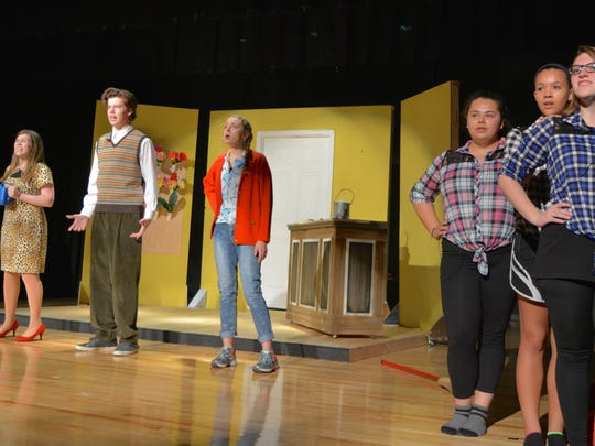 """Snow Hill High School students rehearse """"Little Shop"""