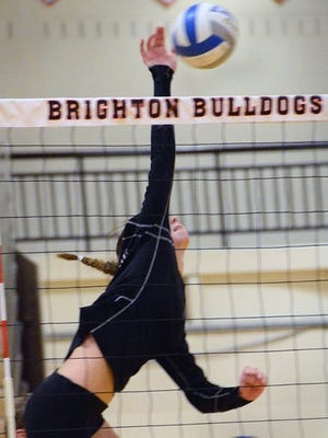 Brighton freshman Celia Cullen has 12 kills and 14 assists in a 3-1 victory over Milford.