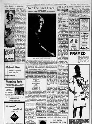 A page in The Greenville News on Sept. 11, 1966.