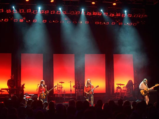 The pop rock band Haim performs at the Cars.com Awards.