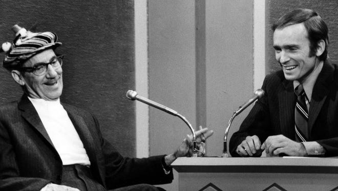 Groucho Marx appearing on the Dick Cavett Show in the early 1970s.
