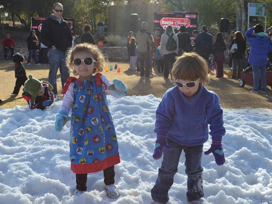 Children can celebrate the new year a few hours early and with lots of snow at Noon Year's Eve at the Phoenix Zoo.