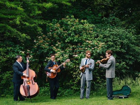 Nate Grower (right) also performs locally with the Chestertown, Maryland-based bluegrass band The High and Wides.