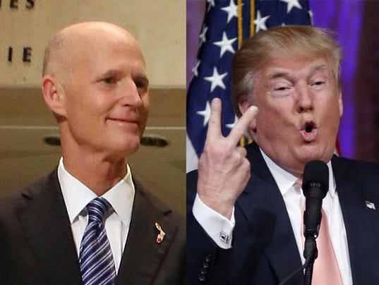 Rick Scott and Donald Trump