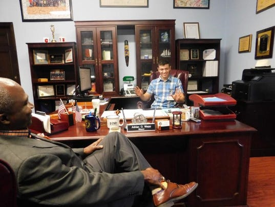 Plainfield High School student  Mayor for a day