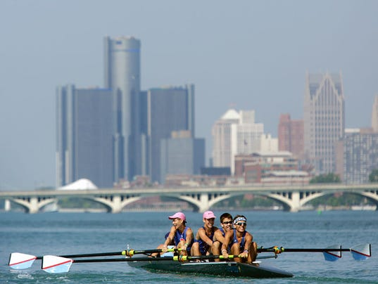 Shawn Windsor Detroit River Rowers Pull Against Tide Of