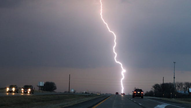 Lightning is a threat in thunderstorms.