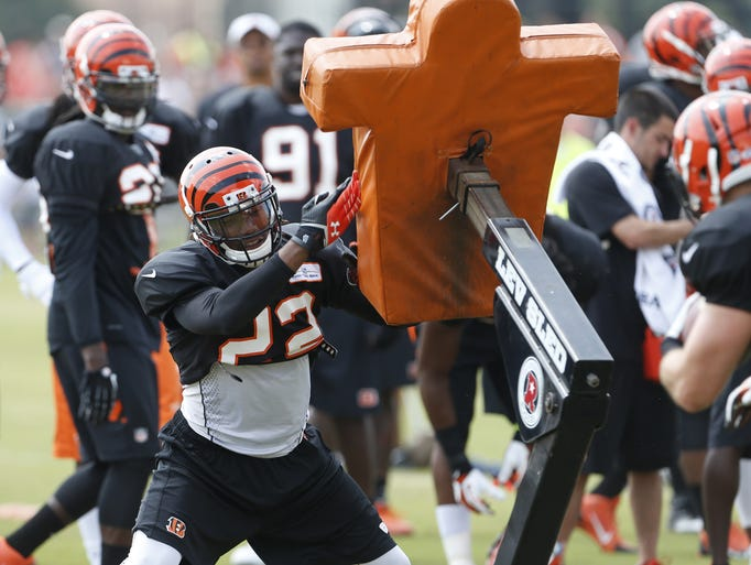 Cincinnati Bengals cornerback Lavelle Westbrooks during training camp.