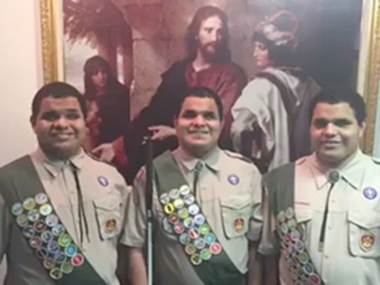 The triplets are now Eagle Scouts.