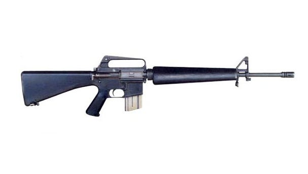 A weapon similar to the Colt M-16 firearm pictured was stolen from an officer, according to the Shreveport Police Department.