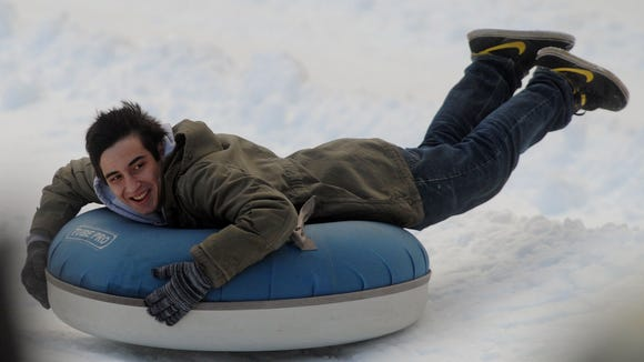 A visitor to Tube World in Maggie Valley last year enjoys the Tubing Run.
