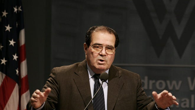 -Supreme Court Associate Justice Antonin Scalia speeks on the topic of Consitutional Interpretation, Monday, March 14, 2005 at the Woodrow Wilson International Center for Scholars in Washington.