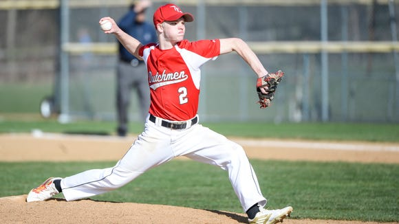 Annville-Cleona senior Alec Barr delivers a pitch during the Little Dutchmen's 10-4 win over reigning Class A state champion Lancaster County Christian on Wednesday.