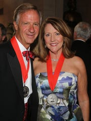 Governor Bill Haslam and First Lady Crissy Haslam attend A Tennessee Waltz at the State Capitol Saturday April 29, 2017.