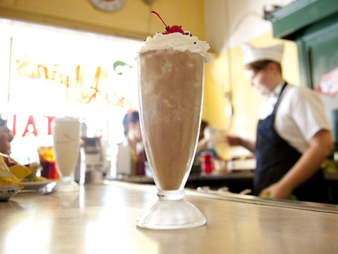 A chocolate shake at MacAlpine's Soda Fountain in Phoenix.