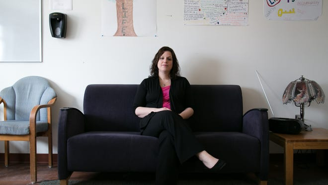 Kerrie Gianvecchio, an addiction counselor, is pictured at Unity's Adolescent Community Residence on Wednesday, March 25, 2015.