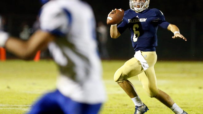 Salesianum QB Garrett Cannon will lead the top-ranked Sals against No. 5 Sussex Tech on Friday night.