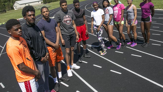 The state-bound Tygers, left to right: Angelo Grose, Jornell Manns, Davis Chapman, Joe Ellis, Tyrese Long, Jakari Brown, Alaya Grose, Nayasha Franklin, Alaysia Grose and Tor'Reian Brown.