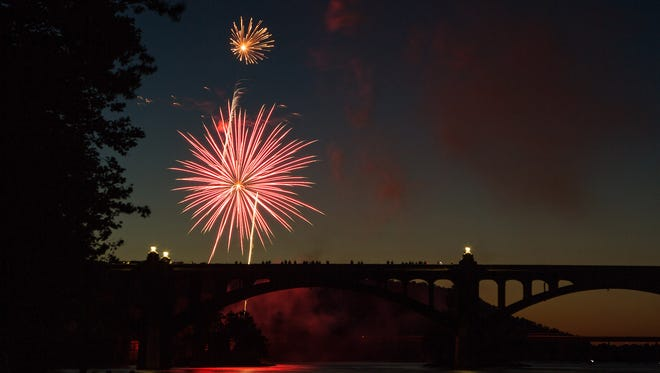 Tim Senft of Hallam submitted this photo of the Fourth of July fireworks in Wrightsville.