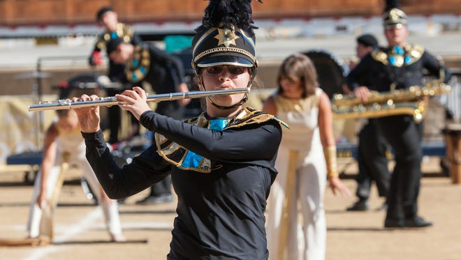 Annual Band Day competition at the Indiana State Fair, Indianapolis, Saturday, August 5, 2017.