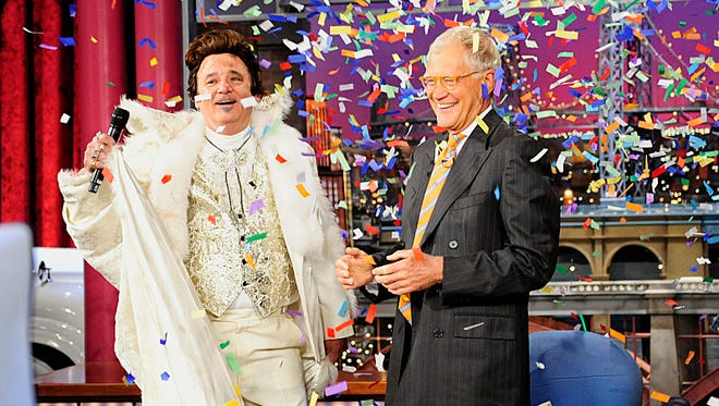"""""""The Late Show with David Letterman"""" celebrated its 20th anniversary  Thursday with Bill Murray, who was the """"Late Show's"""" first guest 20 years ago."""