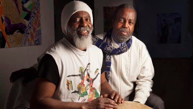Baba Abishai and Saleem Sullivan, executive director of the Association of Community Based Artists of Westchester, better known as AC-BAW