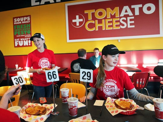 Tom+Chee staff training, shown here, was in March 2015.