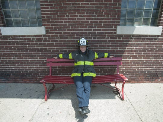 Lydia Chapman is the first female captain in the Camden Fire Department's 147-year history.