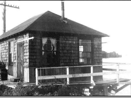 The bridgekeeper's house on the Colchester Causeway.