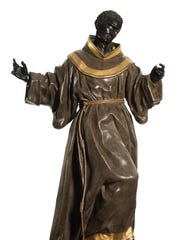 """The 18th-century """"St. Benedict of Parlemo"""" is one of"""