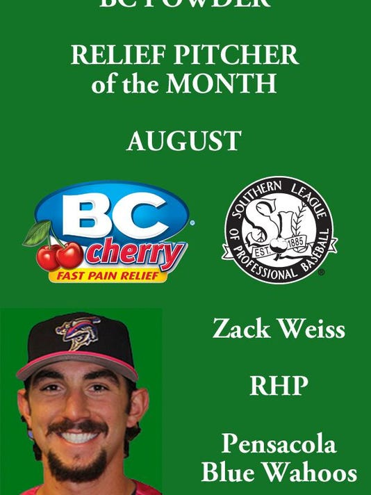 BC Relief Pitcher of the Month August