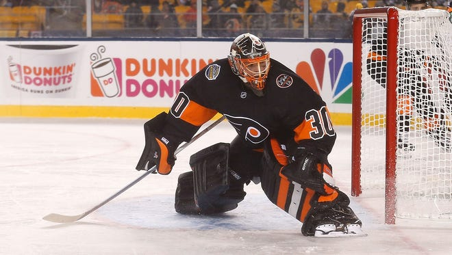 Michal Neuvirth signed a two-year, $5 million contract extension Wednesday.