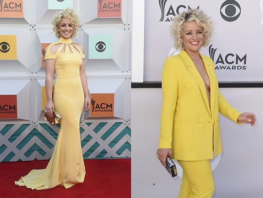 Cam attends the 2016, left, and 2017 ACM Awards.