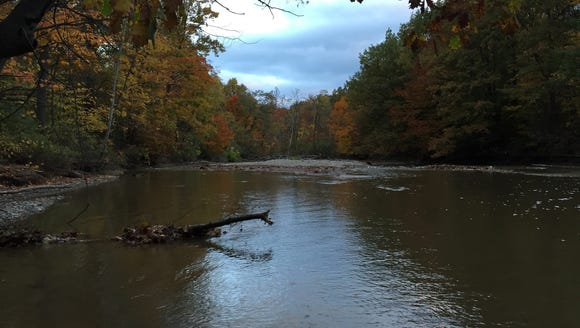 Chautauqua Creek on a fall Sunday morning.