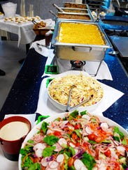 Friday buffet lunch, ready to serve, at First Harvest