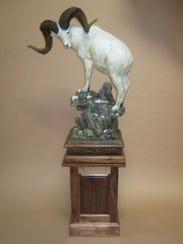 Bighorn sheep sculpture by Sam Terakedis.
