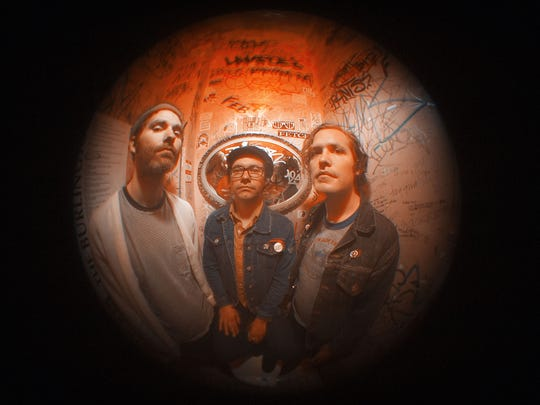 Apache Dropout (from left, Sonny Blood, Seth Mahern and Nathan Warrick) will perform on April 18 at Vibes Music.