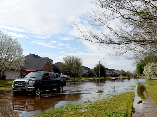 Water in the Golden Meadows subdivision has gone down