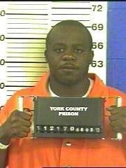"Anthony ""Kanye"" Sistrunk, in a 2013 York County Prison mugshot. On June 29, 2018, he was sentenced to 30 years in federal prison for racketeering and drug trafficking as a member of York City's Southside gang."
