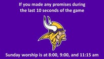A Sioux Falls church would like to remind you of the promise you might have made last Sunday during a very important NFL game.
