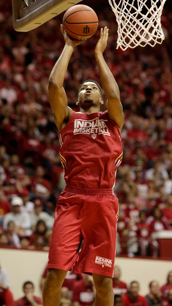 IU sophomore forward Devin Davis (pictured) remains in serious condition following this weekend's car accident.