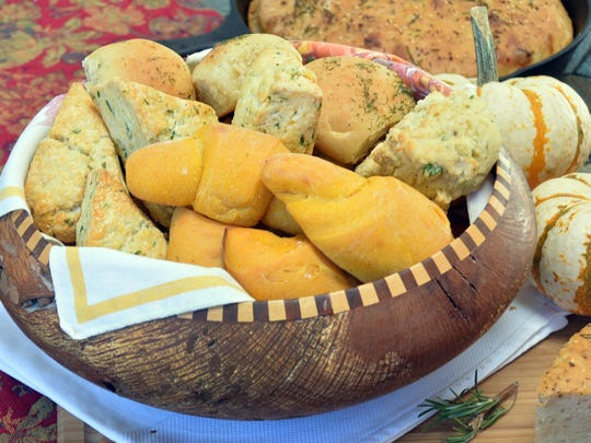 Sweet potato crescent rolls add color to this Thanksgiving