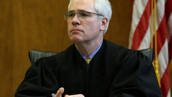 Marion County Circuit Judge Vance Day listens during an arraignment last year.