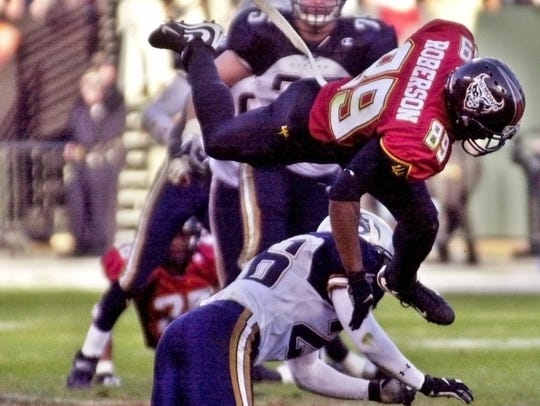 The previous incarnation of the XFL, featuring teams