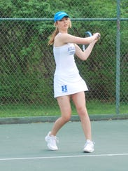 Brooke Hodory of Highlands during the 10th Region Tournament.