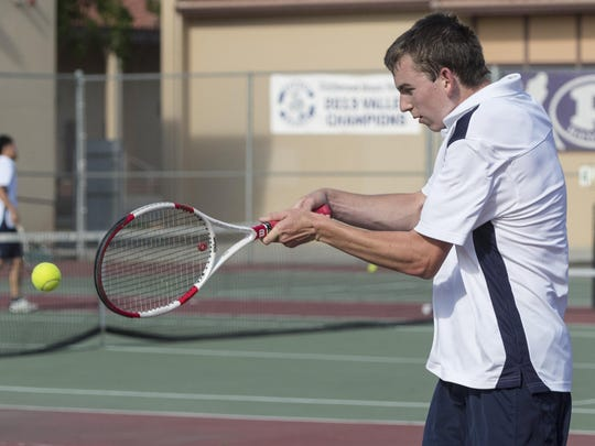 Redwood's Adam Miller and the Rangers was awarded the sixth seed for the Central Section Division I boys tennis postseason.