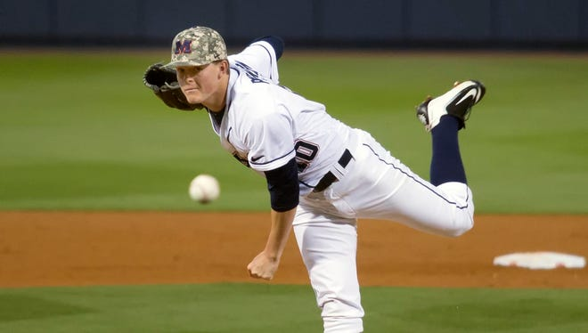 Ole Miss starter David Parkinson suffered his first defeat of the season Saturday in a 2-0 loss to Alabama in Tuscaloosa.