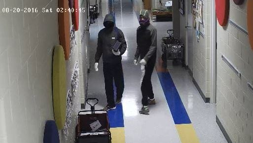 Two Pike Road School burglary suspects steal iPads on Aug. 20, 2016.
